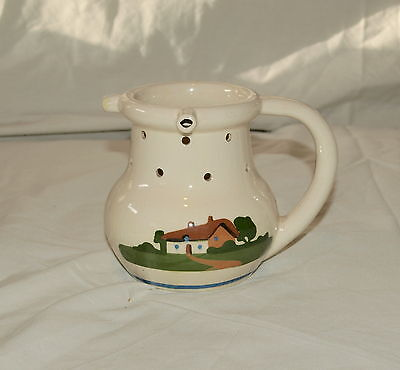 4.5 inch DARTMOUTH POTTERY COTTAGE  PATTERN TORQUAY MOTTO WARE PUZZLE JUG