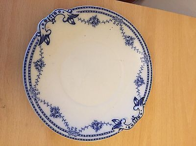 Vintage Tams Ware Blue & White Roseage Plate Stamped John Rams Ltd Tea Jee
