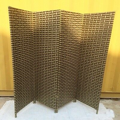 1X Knitted Room Divider 4 Panels Folding Screen furn-rd14