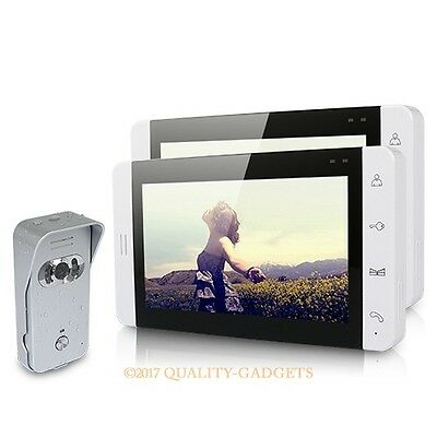 """7"""" Wired Video Door Phone Audio Visual Intercom Entry System 1V2 For Villa House"""