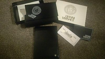 Gianni Versace Black Leather Medusa Address Book Notebook RARE little