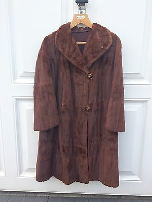 Real Canadian Squirrel Authentic Vintage Fur Coat size 12/14