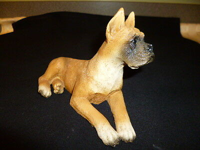Boxer Dog Statue Figurine - Castagna Original, signed/stamped, dated Italy-1988