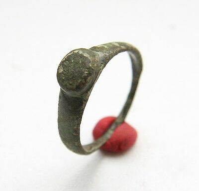 Ancient Old Medieval Bronze Ring (NWR08)