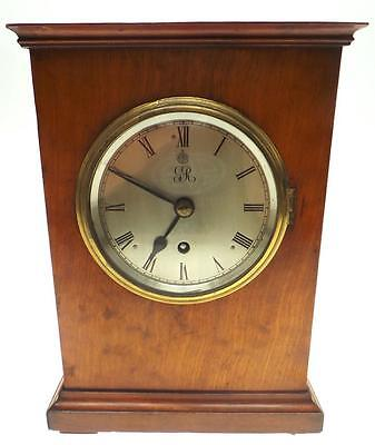 Military GR Regulator 8Day Fusee Mahogany Bracket Clock Army Mess Officers Clock