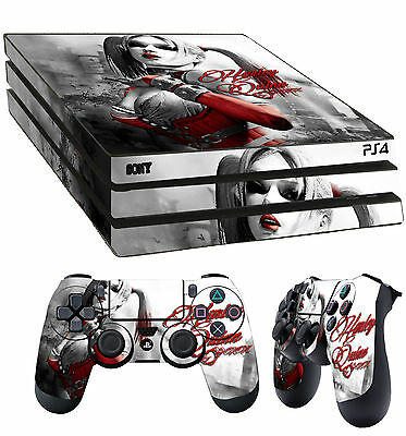PS4 Pro Skin Harley Quin Gotham Girl Harleen Sticker + 2 X Pad decal Vinyl LAY