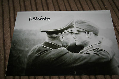 Luftwaffe Day Fighter Ace Knights Cross Signed Photograph Meimberg