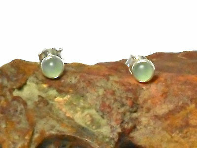AQUAMARINE   Sterling  Silver  925  Earrings / STUDS  -  5 mm  -  Gift Boxed!