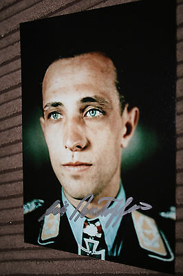 Luftwaffe Day Fighter Ace Knights Cross Signed Photograph Rudorffer No.2