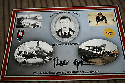Luftwaffe Night Fighter Ace Signed Photograph Spoden