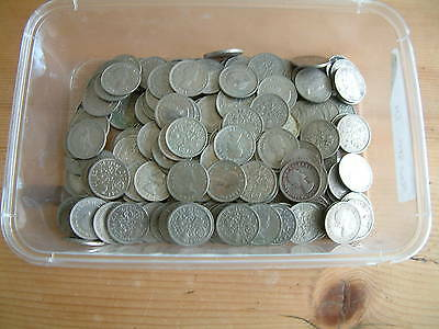 150 X Vintage Post 1947 Silver Sixpences Good Coins