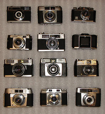 12 x VINTAGE FILM CAMERAS COLLECTION PERFECT PROP WINDOW DISPLAY UNITS