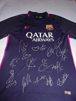 Barcelona SIGNED 2016-2017  football SHIRT,SOCCER JERSEY, WITH COA , messi