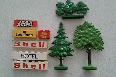 Vintage Lego Signs and Trees