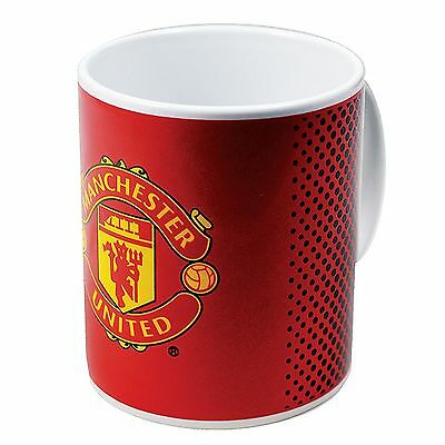 Manchester United FC Official Fade Ceramic Football Crest Mug