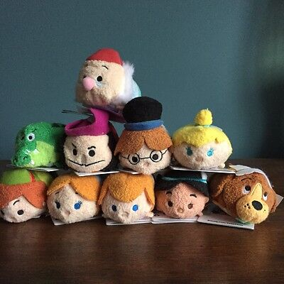 DISNEY STORE TSUM TSUM BNWT 10 PETER PAN MINI Full COMPLETE SET BNWT GENUINE