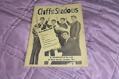 """""""Cliff And The Shadows""""-Guitar/Piano/Uke/Voice Sheet Music Book-1962"""