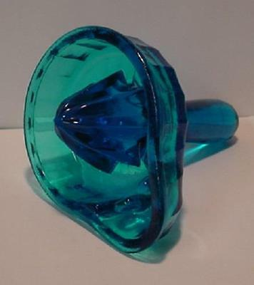 Turquoise Blue  Glass Hand Held Glass Juicer / Reamer