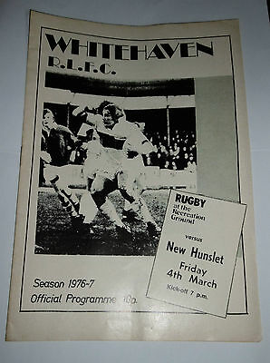 Whitehaven v New Hunslet 4th March 1977 League Match @ The Recreation Ground