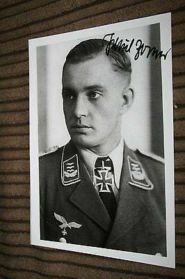 Luftwaffe Night Fighter Ace Knights Cross Signed Photograph Zorner No.2