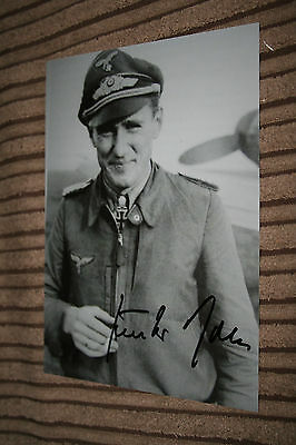 Luftwaffe Day Fighter Ace Knights Cross Signed Photograph Rall