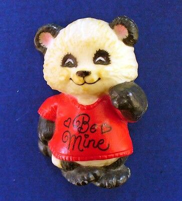 Buy3/Get1FREE~Hallmark PIN Valentines PANDA BEAR BE MINE Vtg Brooch AS IS