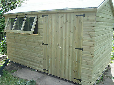 12 x 10  19mm T&G garden shed  (pressure treated)