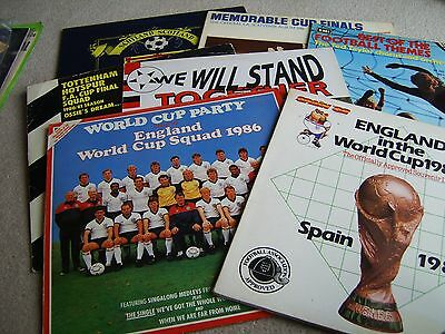 7 1970's & 80's Football related Vinyl LP records, Clubs, National teams etc etc