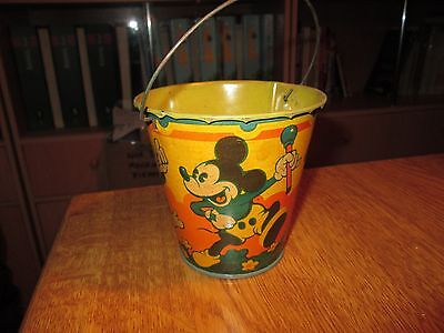Vintage  Disney Tin Toy Sand Pail no.7 Seaside by Happynak from the 30's pail A