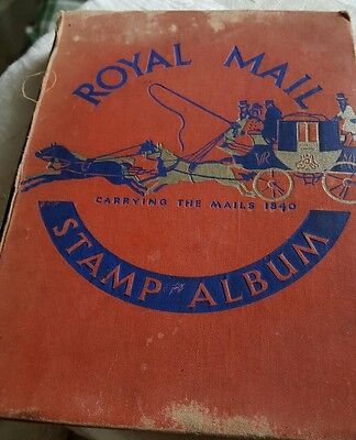 Royal mail stamp album from 1954-66 431 listed stamps