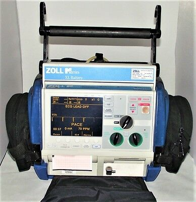 ZOLL M SERIES BiPHASIC DEFIB + PACER, 12 LEAD ECG, MASIMO SP02, NIBP, XTREME E R