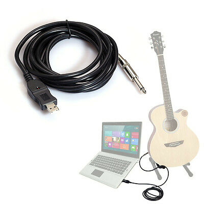 3M Guitar to PC USB Recording Cable Lead Adaptor Converter Connection HOT SALE