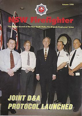 New South Wales (Australia) Firefighter Journal - August 1998