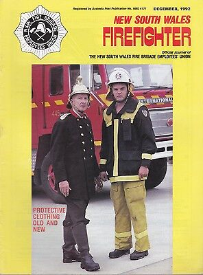 New South Wales (Australia) Firefighter Journal - December 1992