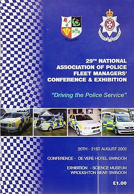 National Association of Police Fleet Managers Exhibition Programme - 2002