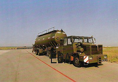 French Air Force Runway Foam Spreading Tanker - POSTCARD