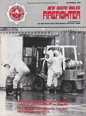 New South Wales (Australia) Firefighter Journal - September 1993