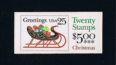 US BK168 (1989) - Sleigh Contemporary Christmas Issue Booklet - Plate #1111