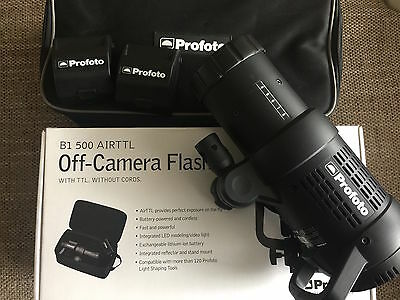 Profoto B1 AirTTL Off-Camera Flash with 2 batteries