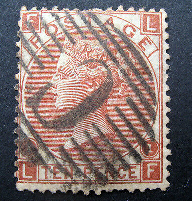 GB 1867/80 - QV - 10d red/brown  - sg112 -  wmk spray of roses - fine used