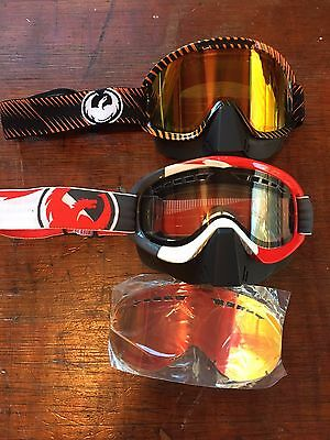 Two Dragon Alliance MDX & MDX2 Snowmobile Goggles includes extra lens