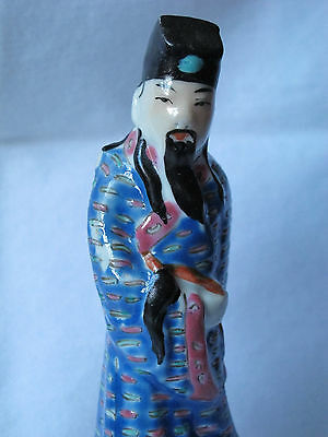 Antique Vintage Chinese Export Figurine Statue Man Hand Painted
