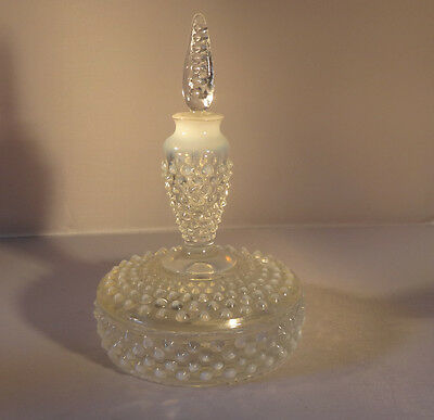 Fenton Hobnail French Opalescent Cologne Boxtle 3986