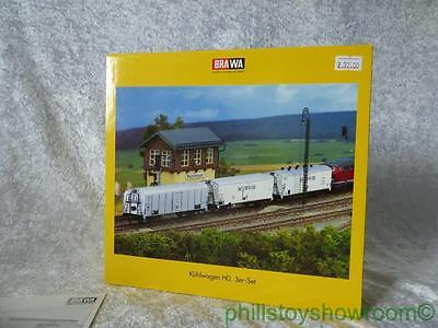 Ho Brawa 2040 Kuhlwagen Set Interfrigo 3 Wagon Set Superb Condition