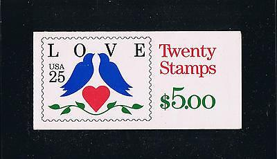 US BK169 (1990) - Love Birds Issue Booklet - Plate #1211