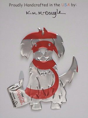 Puppy Dog #3 Handmade Christmas Ornament Recycled Aluminum Diet Cola Soda Can