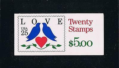 US BK169 (1990) - Love Birds Issue Booklet - Plate #2111