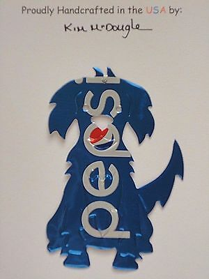 Puppy Dog #2a Handmade Christmas Ornament Recycled Aluminum P Cola Soda Pop Can