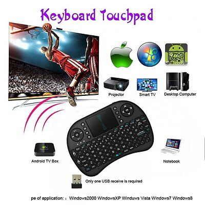 2.4G Wireless Remote Keyboard Mouse Touchpad Android TV BOX PC UK PR