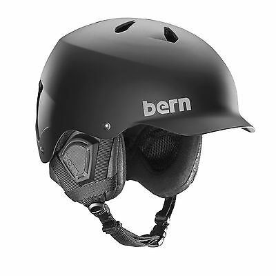 Bern Watts Men's Ski Snow Bike Helmet + Boa Matte Black